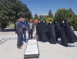 غبار روبی مزار شهید گمنام به مناسبت هفته ملی مهارت