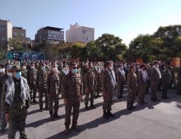 برگزاری صبحگاه مشترک بسیجیان حوزه یک ادارات مشهد همزمان با هفته گرامیداشت دفاع مقدس