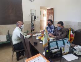 دیدار رییس و کارکنان مرکز با فرمانده نیروی انتظامی سرولایت
