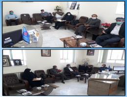 جلسه دهیار و اعضای شورای اسلامی روستای مند گناباد با ریاست مرکز آموزش فنی و حرفه ای