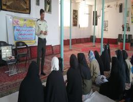 به مناسبت هفته نیروی انتظامی کار گاه آموزشی راه های پیشگیری از اعتیاد وآسیب های اجتماعی کارآموزان روستای نصرآباد