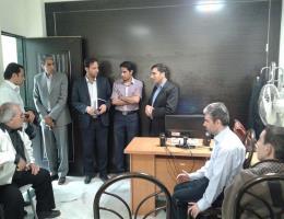 بازدید رئیس مرکز آموزش فنی و حرفه ای شماره 6 مشهد,از مرکز آموزش نابینایان شهید جلیلیان مشهد