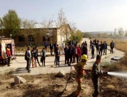 برگزاری کلاس اطفاء حریق در مرکز آموزش فنی و حرفه ای قوچان