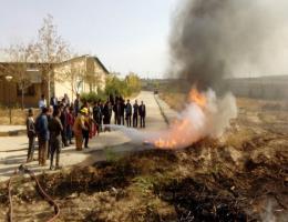 برگزاری کلاس اطفاء حرق درمرکز قوچان