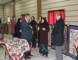 بازدید مدیرکل آموزش فنی و حرفه ای خراسان رضوی از کارگاه دوره آموزشی تکه دوزی مصری