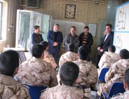 شروع طرح مهارت آموزی سربازان وظیفه باحضورمدیرکل محترم درمرکز قوچان