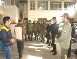 یازدید پرسنل و کادر وظیفه منطقه نیوروی انتظامی تربت حیدریه از کاگاههای فعال مرکز