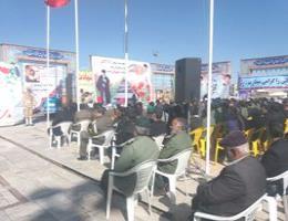 غبارروبی مزار شهدای تربت حیدریه به مناسبت فرارسیدن دهه فجر و پیروزی انقلاب اسلامی