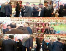 بازدید جناب آقای دکتر بنایی از غرفه مرکز آموزش فنی و حرفه ای در نمایشگاه توانمندیهای بانوان شهرستان بجستان