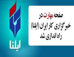 در راستای ترویج و توسعه نهضت مهارت آموزی؛ صفحه مهارت در خبرگزاری کار ایران راه اندازی شد