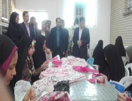 بازدید فرماندار و مسئولین و مقامات شهرستان از مرکز آموزش فنی و حرفه ای شهید شرکاء بجستان