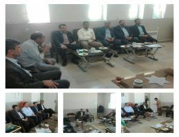 دیدار تعدادی از مسئولین شهرستان به مناسبت عید غدیر با رئیس مرکز