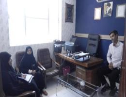 جلسه مسئول آموزش مرکز خواهران مشهد با دهیار و رئیس شورای روستای ساغروان