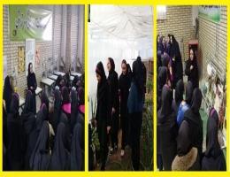 بازدید دانش آموزان دبیرستان نور از کارگاه های مرکز آموزش فنی و حرفه ای تایباد