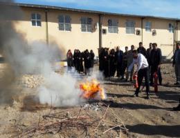 برگزاری دوره آموزشی اطفاء حریق ویژه کارکنان ادارات شهرستان رشتخوار