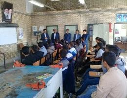 بازدید معاون آموزش متوسطه آموزش وپرورش تایباد از کارگاه های مرکز آموزش فنی وحرفه ای شهرستان