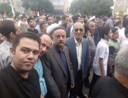 شرکت کارکنان مرکز هتلداری و گردشگری شهید آوینی مشهد درمراسم راهپیمایی روز جهانی قدس