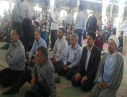 شرکت ریاست و تعدادی از همکاران در نماز جمعه سبزوار