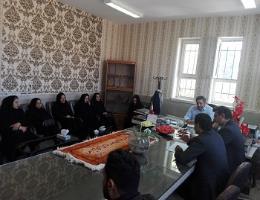 جلسه مدیرکل آموزش فنی و حرفه ای خراسان رضوی با مدیران آموزشگاههای آزاد باخرز در محل مرکز آموزش فنی و حرفه ای این شهرستان