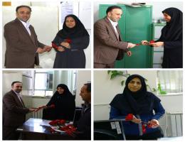 تجلیل از بانوان شاغل در مرکز آموزش فنی و حرفه ای گناباد در آستانه تولد حضرت زهرا و روز زن با تقدیم یک شاخه گل
